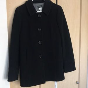 JCrew Black single breasted Peacoat